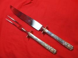Oneida Ltd Sterling Silver Mansion House Carving Meat Knife and Fork Set - $166.50