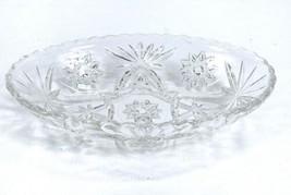 "ANCHOR HOCKING Early American Prescut Star David Cut Glass Oval Dish 9"" x 5 5/8"" - $9.79"