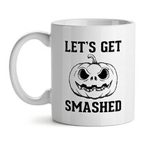 Lest Get Smashed Halloween Gamer Horror - Mad Over Mugs - Inspirational Unique P - $17.59