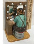 Hobo Clown Figurine Emmett Kelly JR Putting on Makeup Dressing Room Cera... - $24.74