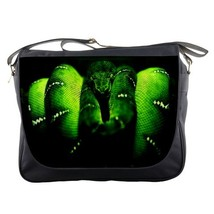 Messenger Bag Razer In Green Snake Design For New Gamers Animation Design Fantas - $30.00