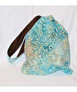 Turquoise Blue Batik Knot Bag - $25.75