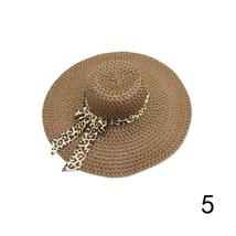 Huation 2019 New Sun Hats for Women Girls Wide Brim Floppy Straw Hat Summer Bohe image 5