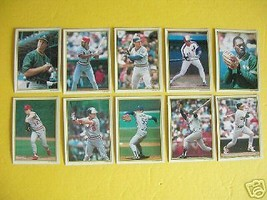 1989 TOPPS All Star Collector's Edition MLB Cards 41-50 - $9.89