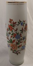 "16"" Vintage Hand Painted Glass Vase Butterly & Flowers made in Peru - $60.94"