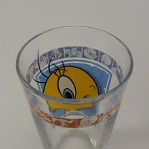 "1999 Warner Bros 5 3/4"" Looney Tunes Tweety Bird Drinking Glass image 3"