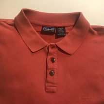 Patagonia Men XL 3 Button Short Sleeve Red Polo A3389 - $24.50