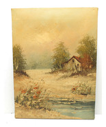 """Summer Country Scene Oil Painting On Canvas by Henderson 16""""X12"""" Upstate NY - $37.39"""