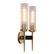 """Phansthy Antique Bronze 2 Lights Sconce Bathroom Vanity Lights with Dual 2.8"""" Cy"""
