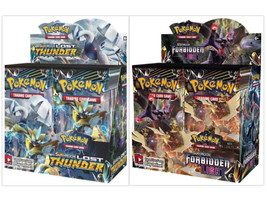 Pokemon TCG Sun & Moon Lost Thunder + Forbidden Light Booster Box Bundle - $209.99
