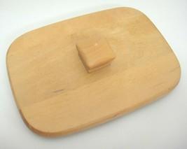 "Longaberger WoodCrafts Wood Rectangular Basket Lid 5.25"" x 7.25"" Nick on... - $9.89"