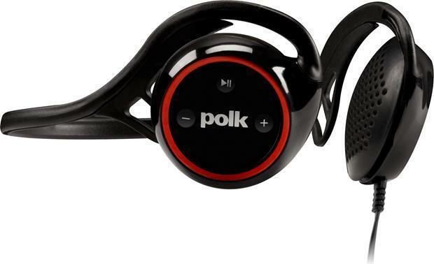 Polk Audio UltraFit 2000 sports headphones (Black/Red) image 5