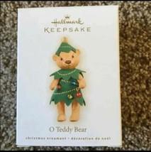 Hallmark Keepsake O Teddy Bear Christmas Ornament New In Box - $9.89