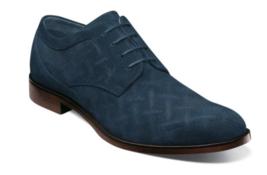 Stacy Adams Radburn Plain Toe Oxford Men's Shoes Navy Suede 25423-415 - $90.00