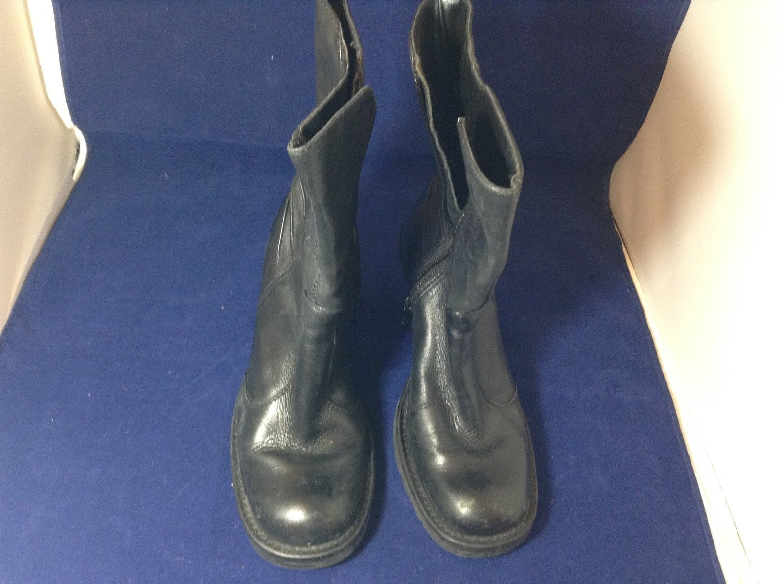 Steve Madden Black Leather High Heeled Boots Sz 6.5