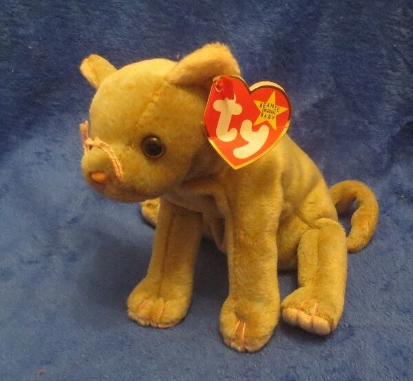 Primary image for Ty Beanie Baby Scat the Cat Gasport Tag Error CREASED TAG 1998