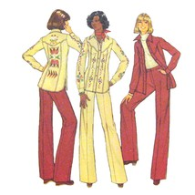 Vtg Simplicity 7696 Misses Long Sleeve Shirt Jacket Wide Leg Pants 10/32... - $6.95