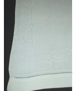 """Irish Antique Dresser Scarf Pristine White Rectangle Small Topper 15"""" X 20"""" - $9.85"""