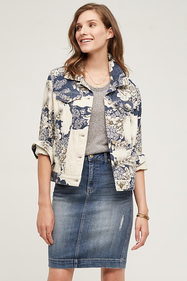 Primary image for NWT ANTHROPOLOGIE FLORAL JACQUARD SHIRT JACKET by PILCRO M
