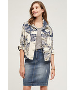 NWT ANTHROPOLOGIE FLORAL JACQUARD SHIRT JACKET by PILCRO M - £66.19 GBP