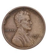 1911-S Lincoln Wheat Cent 1C Penny (Very Fine, VF Condition) - $64.35