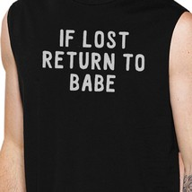 If Lost Return To Babe And I Am Babe Matching Couple Black Muscle Top image 2