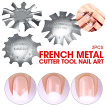 3 PCS French Smile Nail Stencil Cutter Trimmer Clipper Cut Multi-Size Manicure image 4