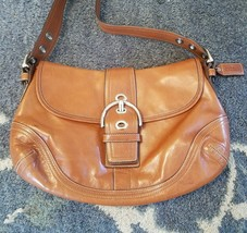 "GENUINE 9""/14""/3"" COACH SATCHEL Handbag Brown(LIKE CINNAMON) Leather F10... - £51.26 GBP"