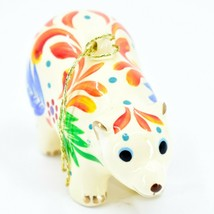 Handcrafted Painted Ceramic White Polar Bear Confetti Ornament Made in Peru image 2