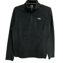 The North Face Women's Black Fleece 1/4 Zip Pullover Sweater Size L - $28.71