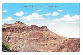 Fossil Rocks John Day Highway Oregon Vintage Linen Forest Service Photo Postcard - $4.99