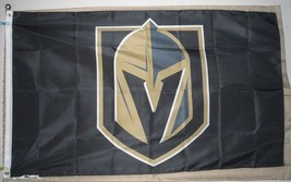 Los Vegas Golden Knights NHL 3'x5' black Flag Banner - USA shipper seller - $25.00