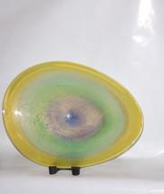 Murano Italian Large Oval Egg Shallow Pastel Ra... - $4,895.00