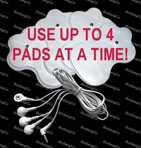 OMRON PM3030 Compatible QUAD 4-Snap Wire/Lead Cable + 8 ELECTRODE PADS - $12.42
