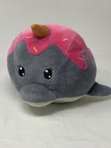 MTY International Plush Dolphin Fish Ice Cream Cone Unicorn Horn Soft Gr... - $10.88