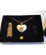 """Joan Rivers Changeable Necklace Set Long 29"""" Gold Tone Chain Vintage Sig... - $89.99"""