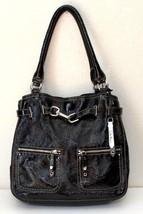 Cole Haan Black Patent Leather Hobo Shoulder Handbag - $46.38