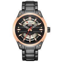 CURREN Mens Watches Stainless Steel Quartz Wristwatch With Calendar Casual Busin - $45.68