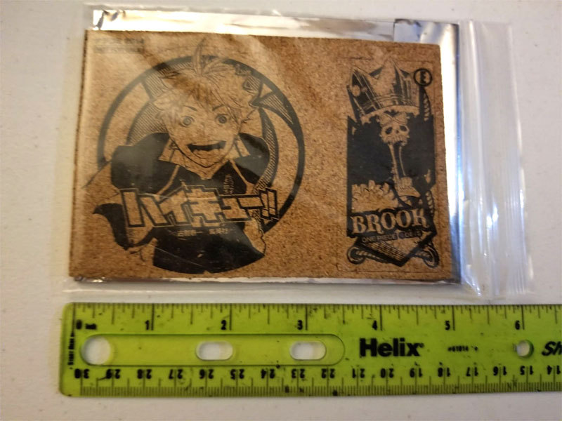 One Piece / Haikyu!! Comiket NFS All-Star Coaster Set * Anime
