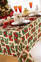 Weihnachten Blumenmuster Heilig Beige 4 6 Platz Rechteckige Tischdecke - $24.68