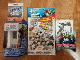 Marvel Avengers Assemble 104 Tattoos 51 Sticker Stacks 12 Stickers 2 Pos... - $14.69