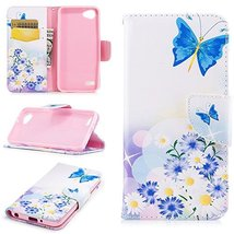 XYX Wallet Phone Case for LG Q6,[Butterfly Love][Kickstand][Wrist Strap]... - $9.88