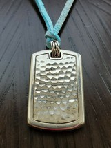 John Hardy Hammered Dog Tag Necklace, Leather Cord - $450.00