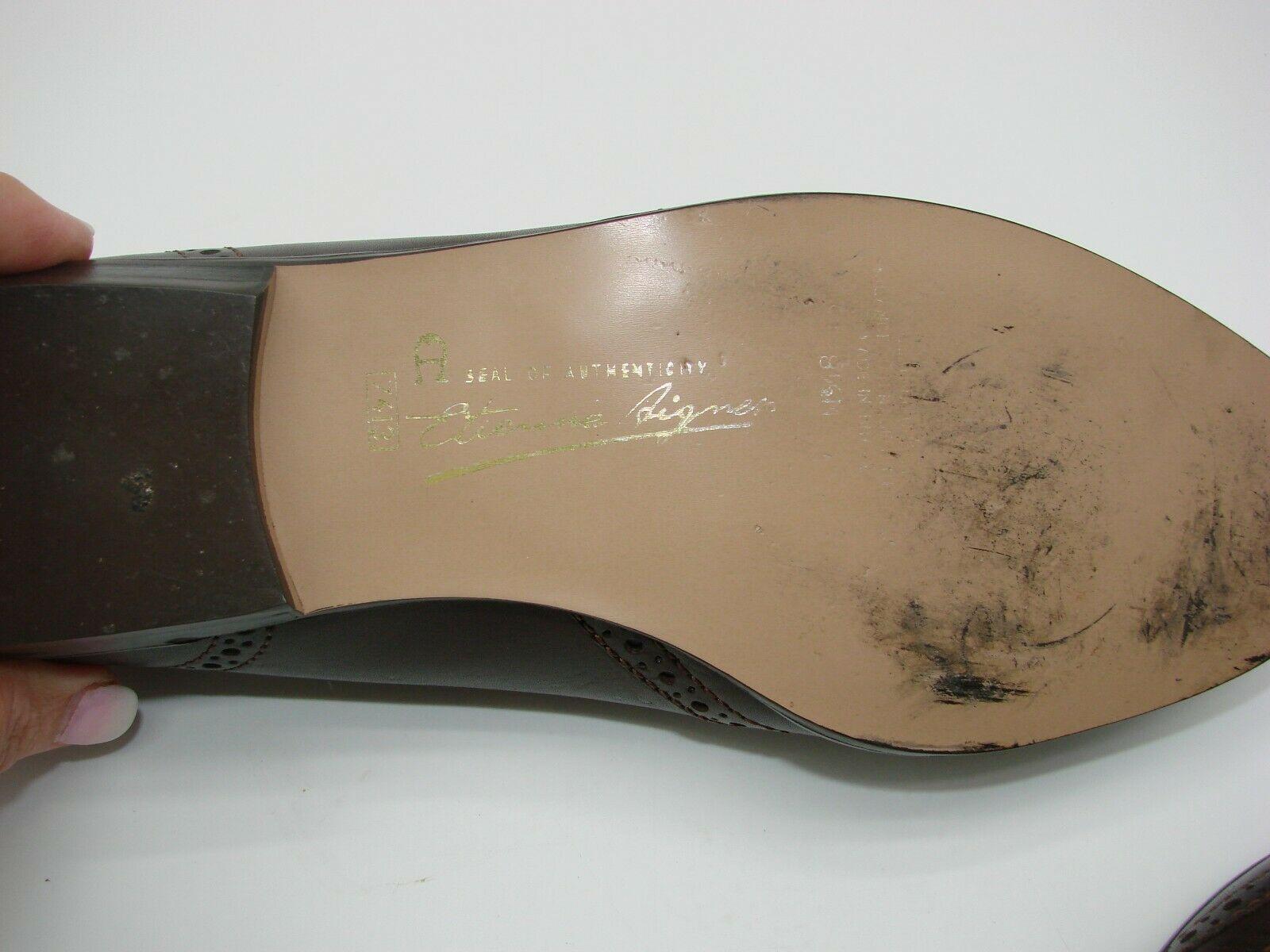 EUC Etienne Aigner Women's Tassel Slip On Pinch Loafers Dress 8 1/2M Brown image 2