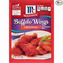Lot of 3 packs McCormick Buffalo Wings Original Seasoning Mix 1.6 oz New - $11.74