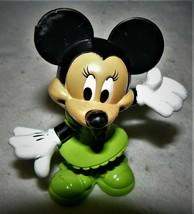 "Disney Mattel Minnie Mouse PVC Figurine Cake Topper Green Dress Shoes 3""... - $5.20"