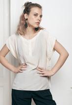 Silk Valentino blouse - 70s vintage top - $46.76