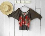 Elle Gray and Floral top Size Small