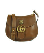 GUCCI 409154 Marmont Feline Leather Shoulder Bag, Brown - $59.557,26 MXN