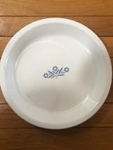 "Corning Ware Blue Cornflower 9"" Pie Plate P-309 Made in USA EX Vtg NICE - $12.83"